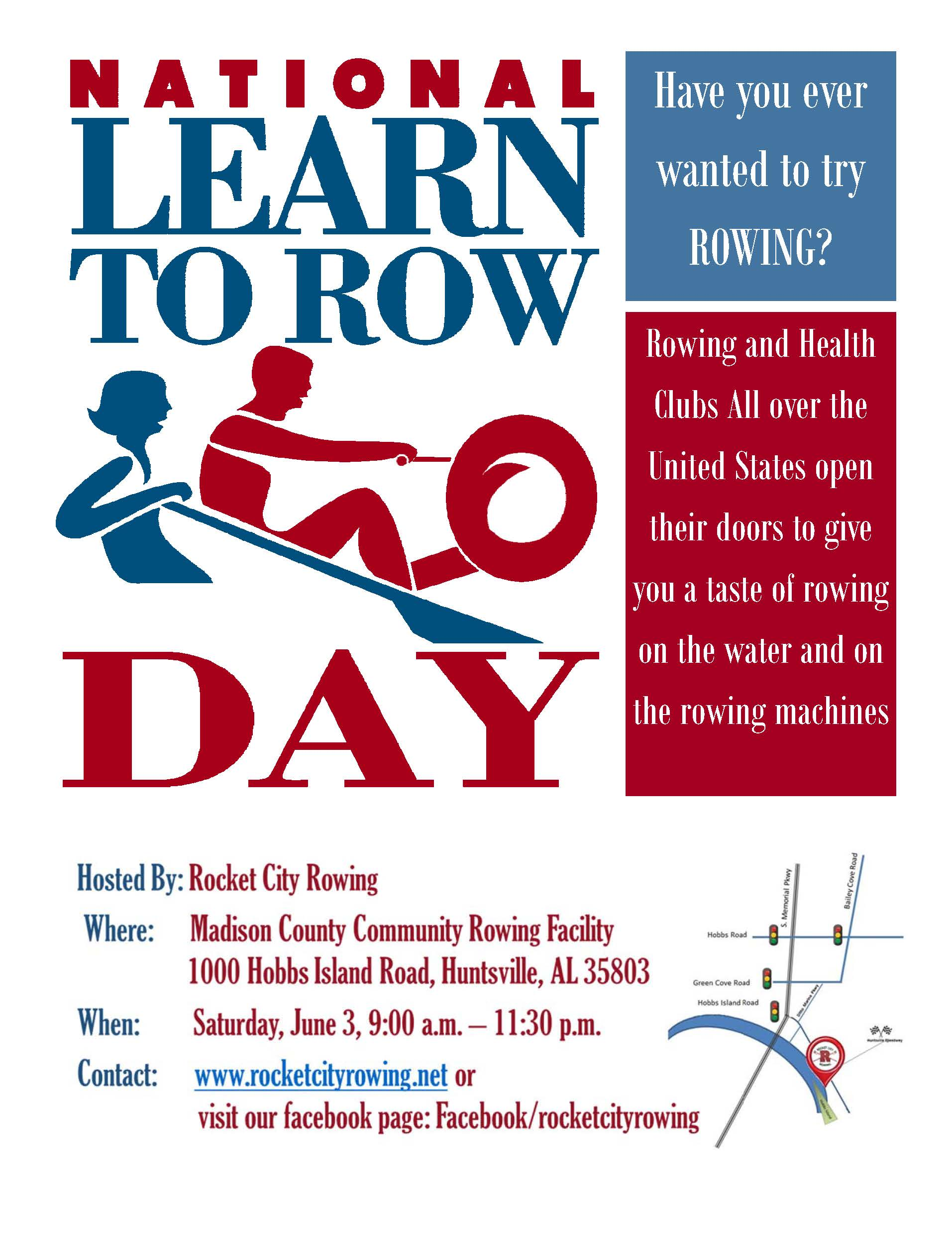 national learn to row day logo